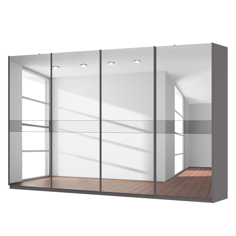 Schwebetürenschrank SKØP – Graphit / Spiegelglas / Grauspiegel – 360 cm (4-türig) – 222 cm – Premium, SKØP kaufen
