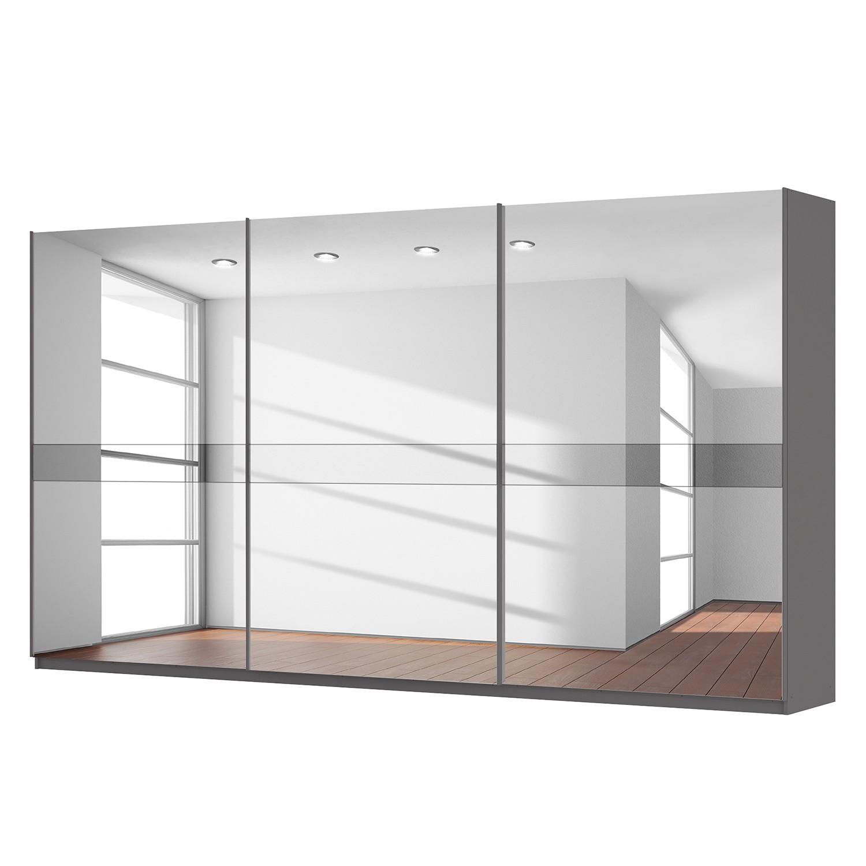 Schwebetürenschrank SKØP – Graphit / Spiegelglas / Grauspiegel – 405 cm (3-türig) – 222 cm – Premium, SKØP online kaufen