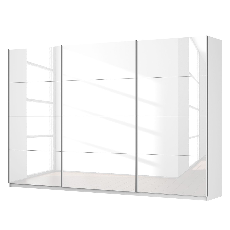 Schwebetürenschrank SKØP - Hochglanz Weiß / Alpinweiß - 360 cm (3-türig) - 236 cm - Comfort, SKØP