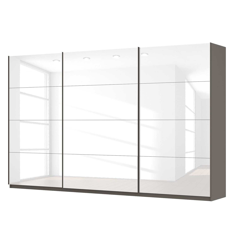 schwebet renschrank sk p hochglanz wei graphit 360 cm 3 t rig 222 cm comfort sk p. Black Bedroom Furniture Sets. Home Design Ideas
