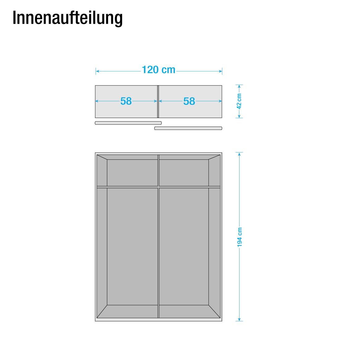soft smart i eiche dekor spiegel breite 120 cm tiefe 42 cm. Black Bedroom Furniture Sets. Home Design Ideas