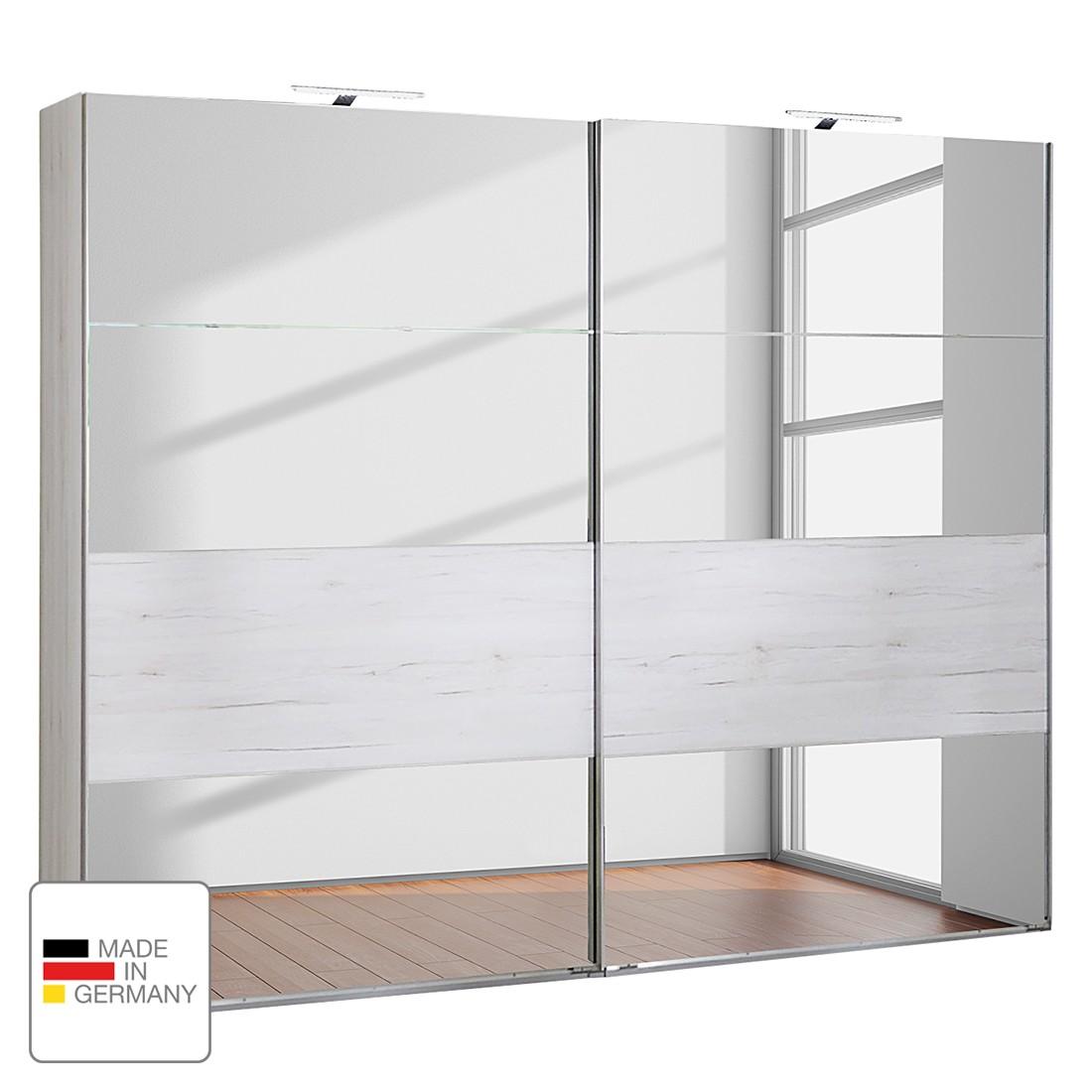 Schwebetürenschrank Sylt – Weißeiche Dekor – LED-Beleuchtung – 225 cm (2-türig), Wimex jetzt bestellen
