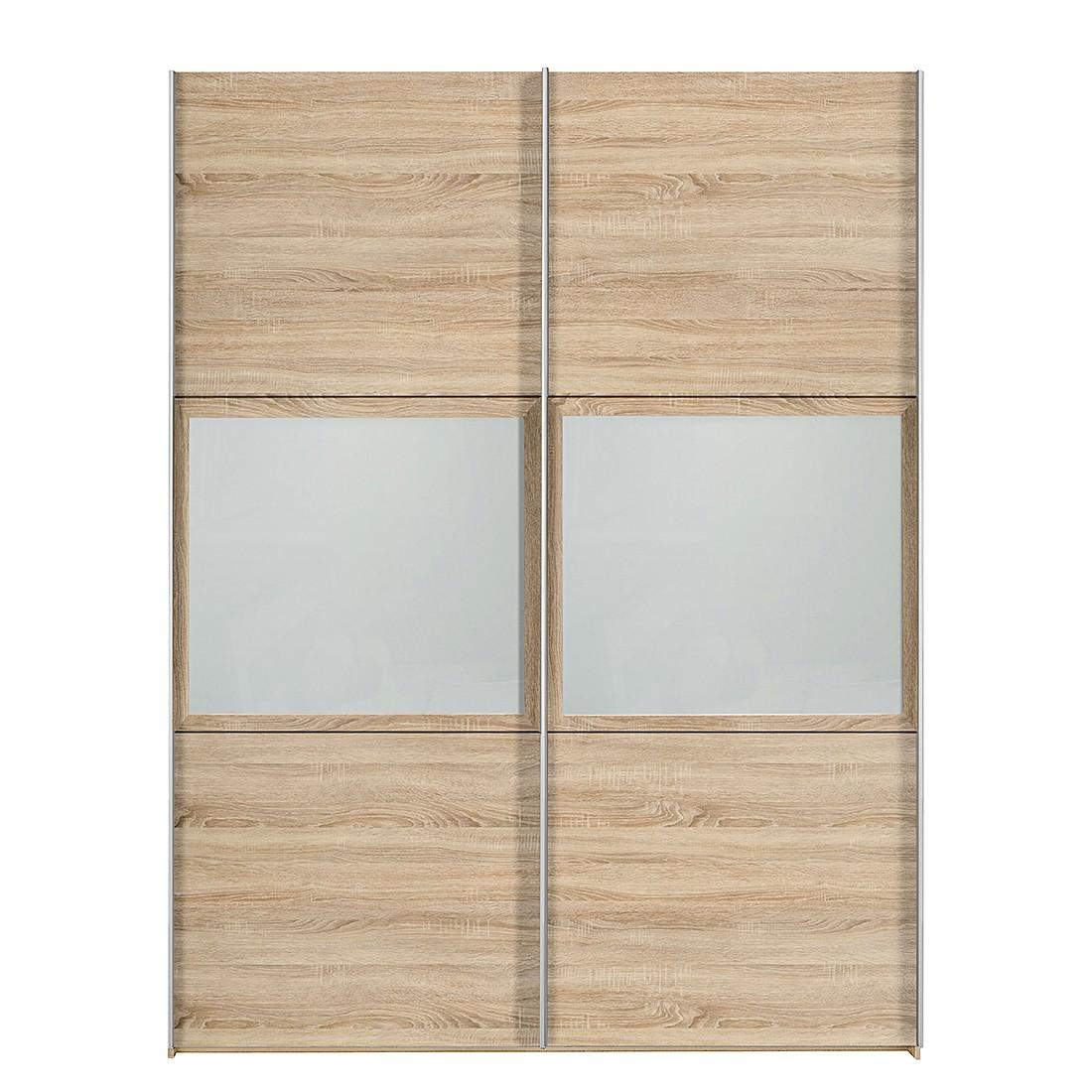 schwebet renschrank trio eiche dekor floatglas breite 302 cm. Black Bedroom Furniture Sets. Home Design Ideas