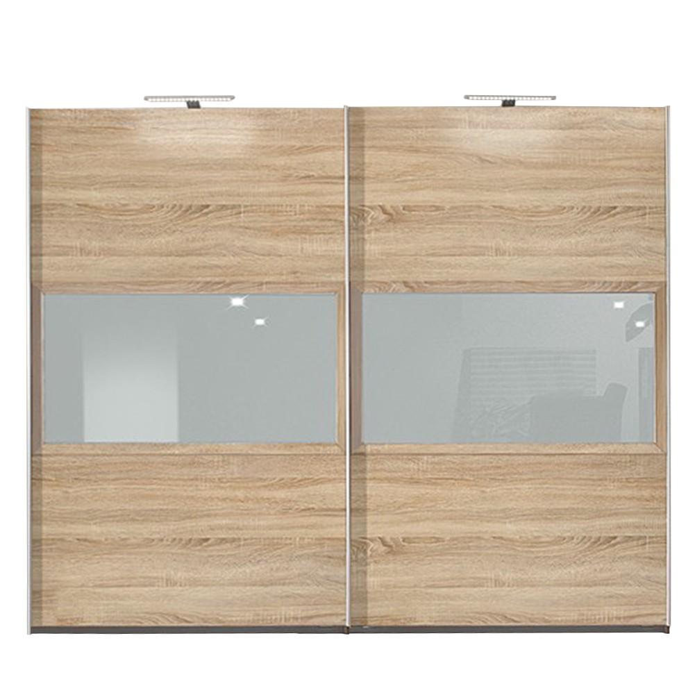 schwebet renschrank trio eiche dekor glas steingrau breite 302 cm. Black Bedroom Furniture Sets. Home Design Ideas