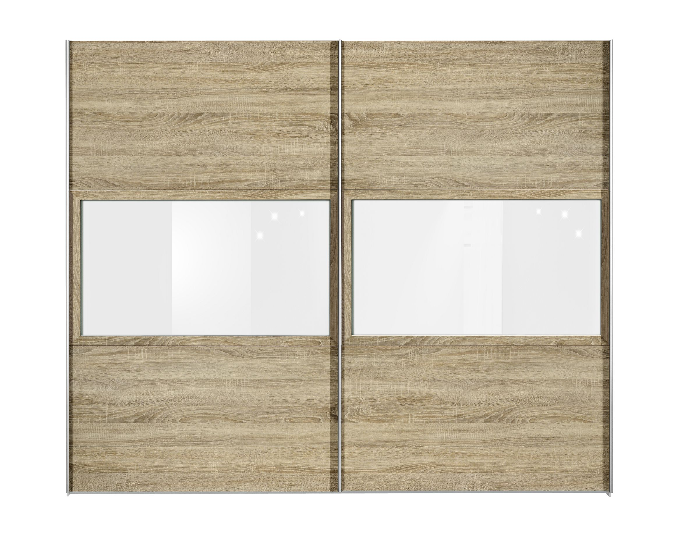 schwebet renschrank trio plus eiche dekor glas reinwei. Black Bedroom Furniture Sets. Home Design Ideas