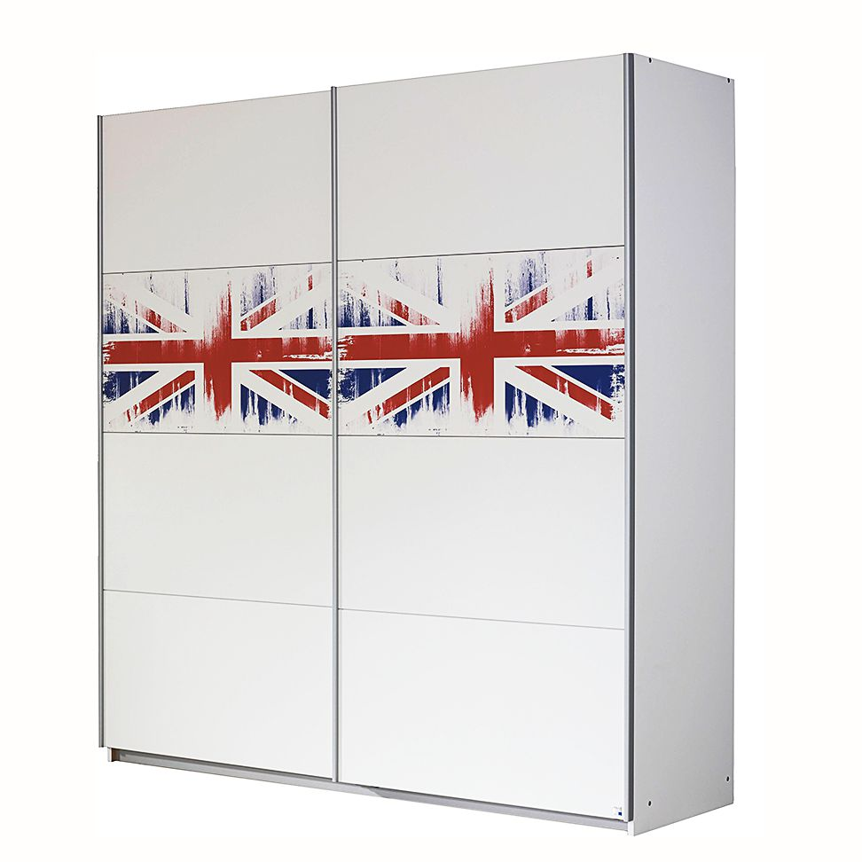 schwebet renschrank union jack wei mit flagge breite 181 cm. Black Bedroom Furniture Sets. Home Design Ideas