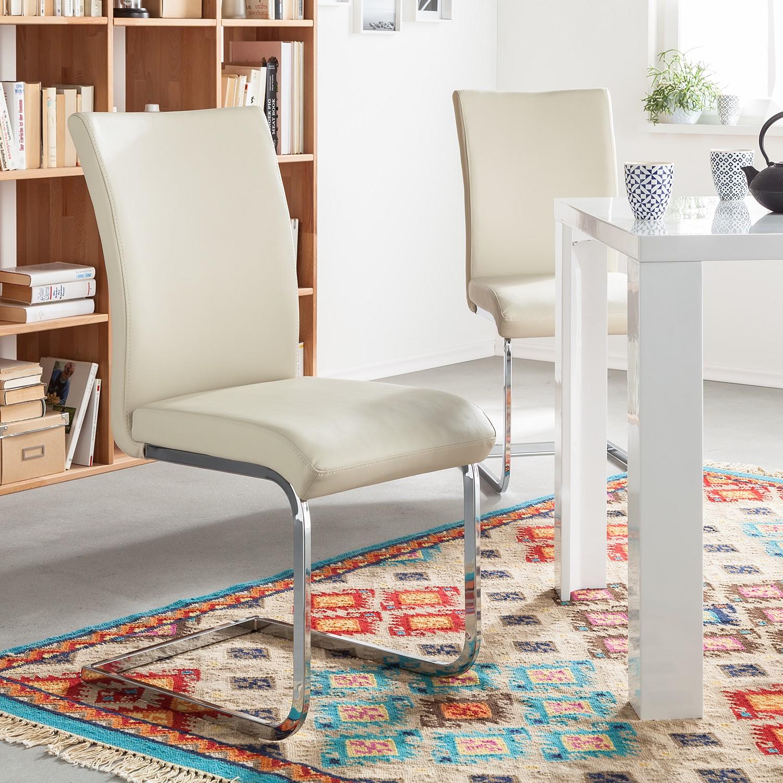 2x schwingstuhl osiris ohne armlehnen creme chrom. Black Bedroom Furniture Sets. Home Design Ideas
