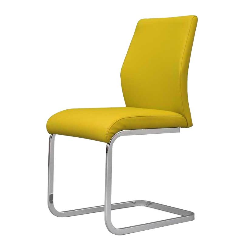 schwingstuhl tregova kunstleder metall gelb chrom tollhaus kaufen. Black Bedroom Furniture Sets. Home Design Ideas