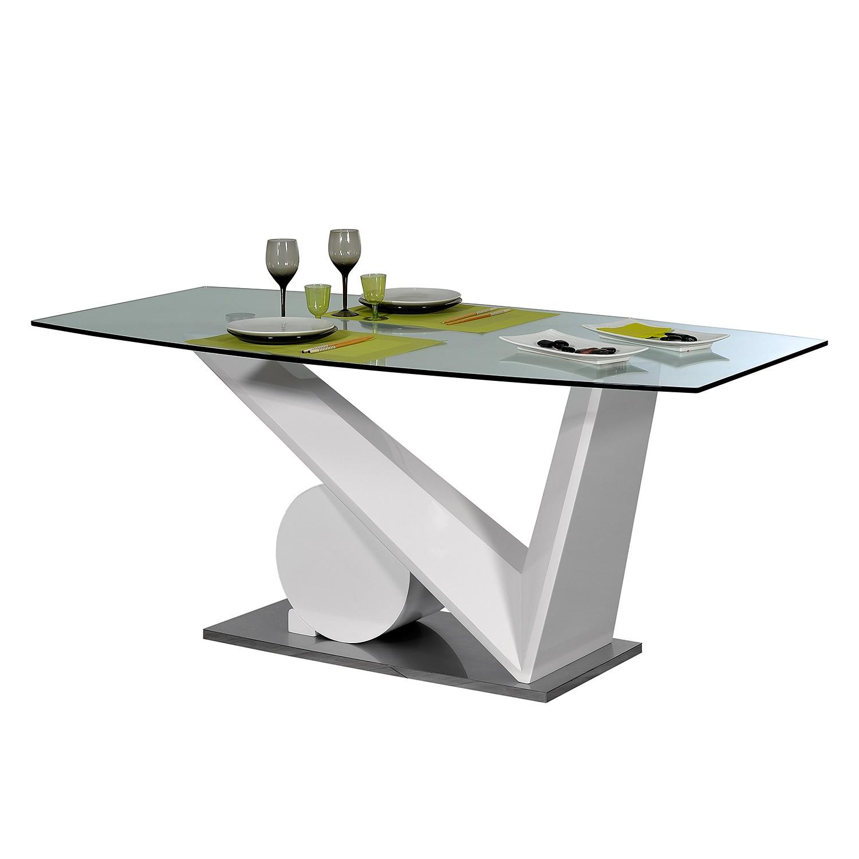 Esstisch Brook - Glas/Hochglanz Weiß, Sciae