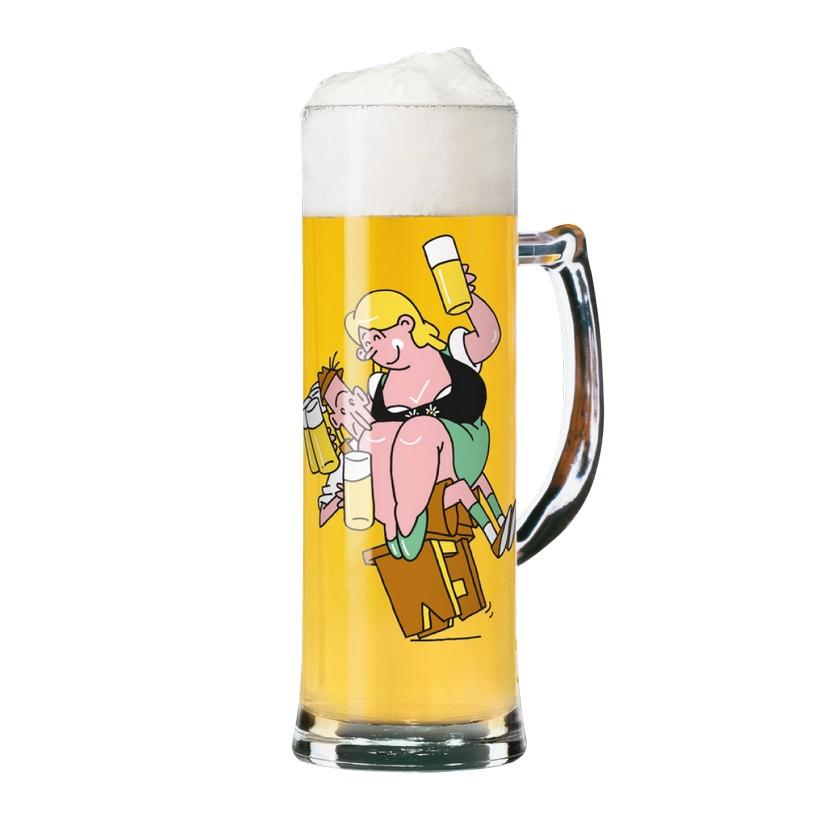 Seidelglas mit Bierdeckeln Seidel – 500 ml – Design Marcel Bierenbroodspot – 2013 – 1780044, Ritzenhoff jetzt bestellen