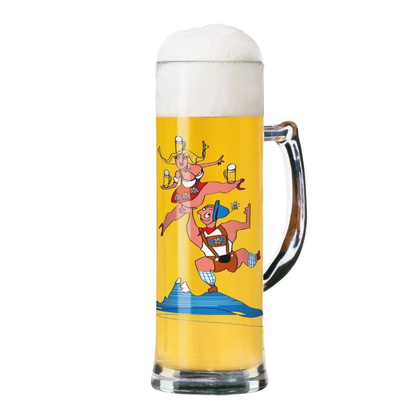 Seidelglas mit Bierdeckeln Seidel – 500 ml – Design Natascha Niesner – 2012 – 1780041, Ritzenhoff jetzt kaufen