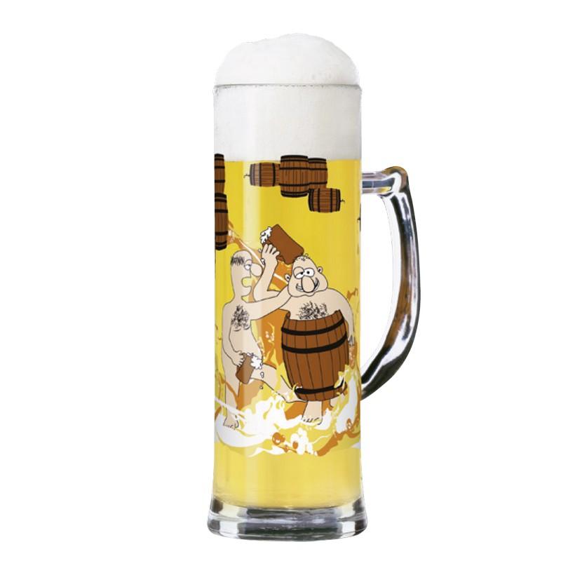 Seidelglas mit Bierdeckeln Seidel – 500 ml – Design Ramona Rosenkranz – 2010 – 1780033, Ritzenhoff jetzt bestellen
