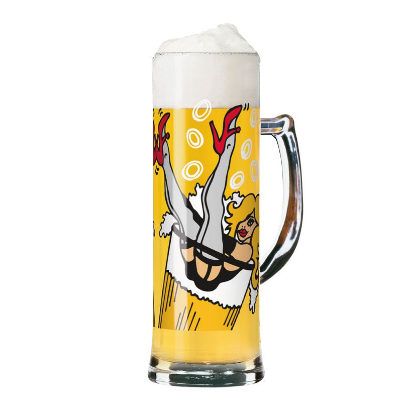 Seidelglas mit Bierdeckeln Seidel – 500 ml – Design Sandra Knuyt – 2011 – 1780037, Ritzenhoff jetzt kaufen