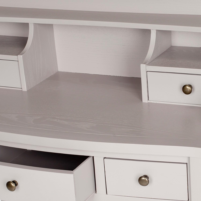 sekret r landon kiefer massiv grau schreibtisch tisch. Black Bedroom Furniture Sets. Home Design Ideas