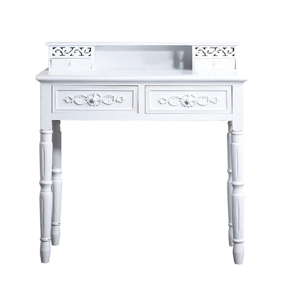 Sekretär Rosali - Holz - Antik-Weiß
