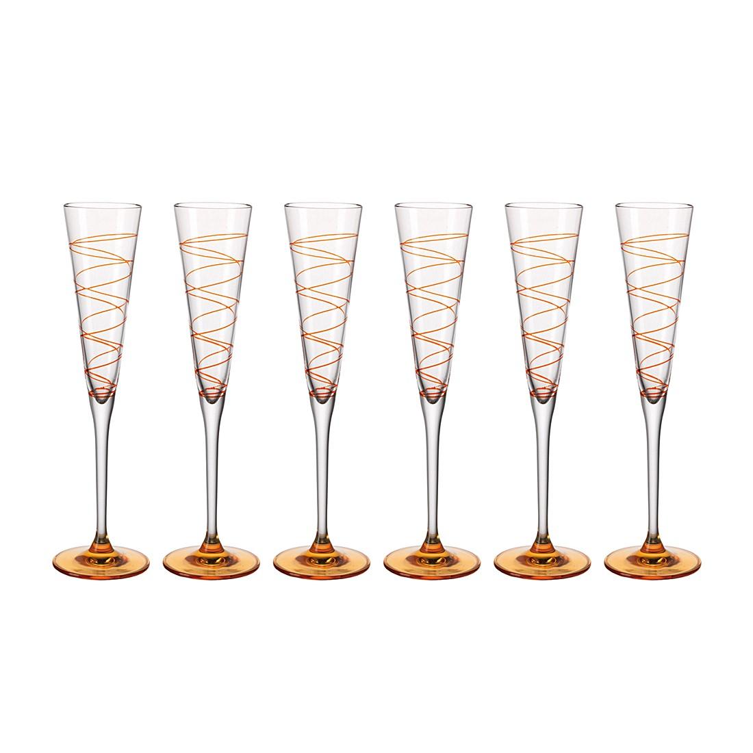 Sektglas Spirale (6er-Set) – Orange, Leonardo online kaufen