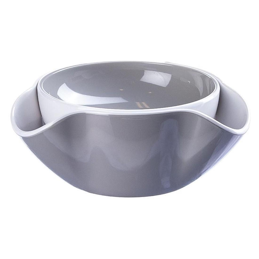 Servierschale Double Dish – Kunststoff – Weiß/Stein, JOSEPH JOSEPH günstig