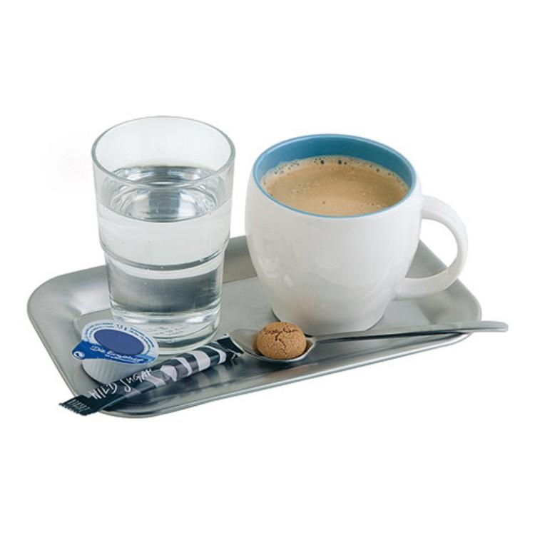 Serviertablett Kaffeehaus – Edelstahl Silber – 21,5 cm 13 cm, Assheuer und Pott günstig