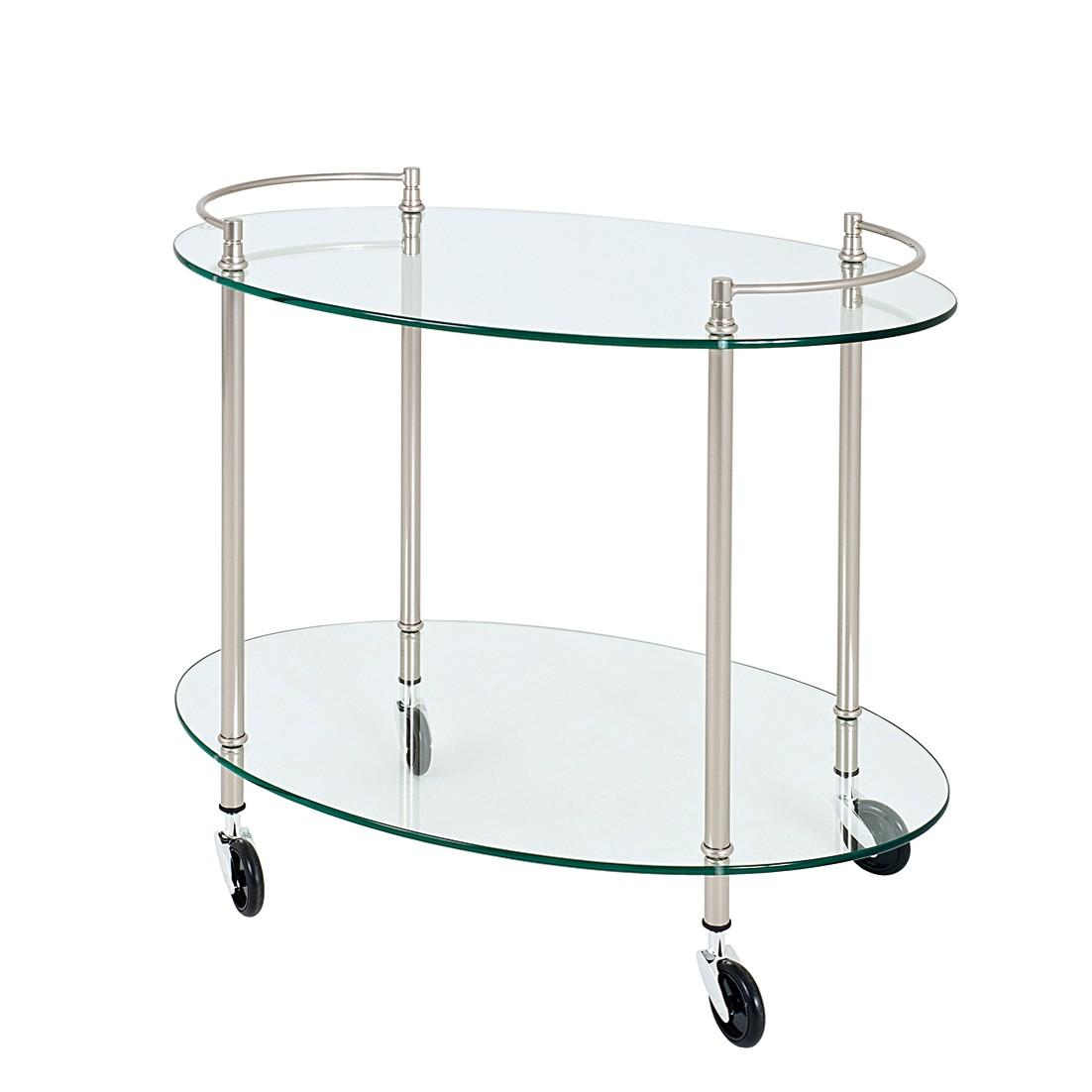 Servierwagen Nurex – Glas/Metall – Klar/Edelstahloptik, Tollhaus kaufen