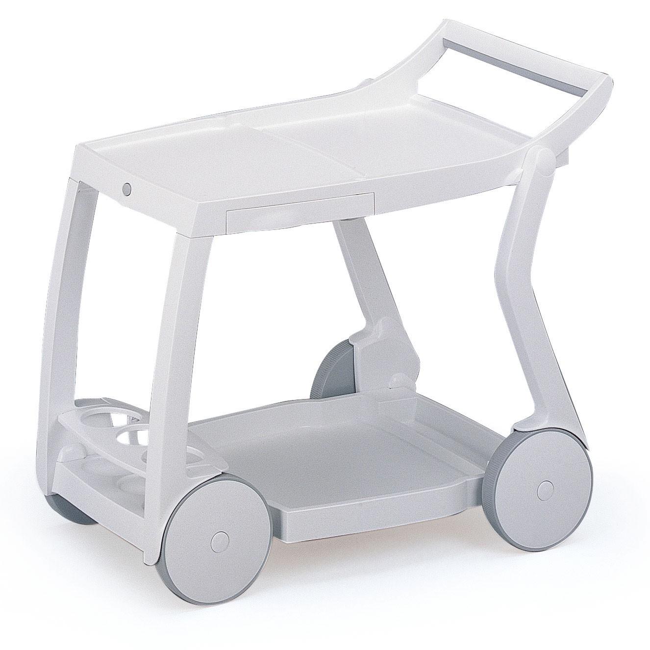 Servierwagen Galileo - vollklappbar - Kunststoff - Weiß, Best Freizeitmöbel
