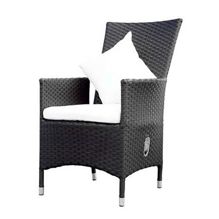 sessel 2 teilig mit gasdruckfeder polyrattan braun outflexx. Black Bedroom Furniture Sets. Home Design Ideas