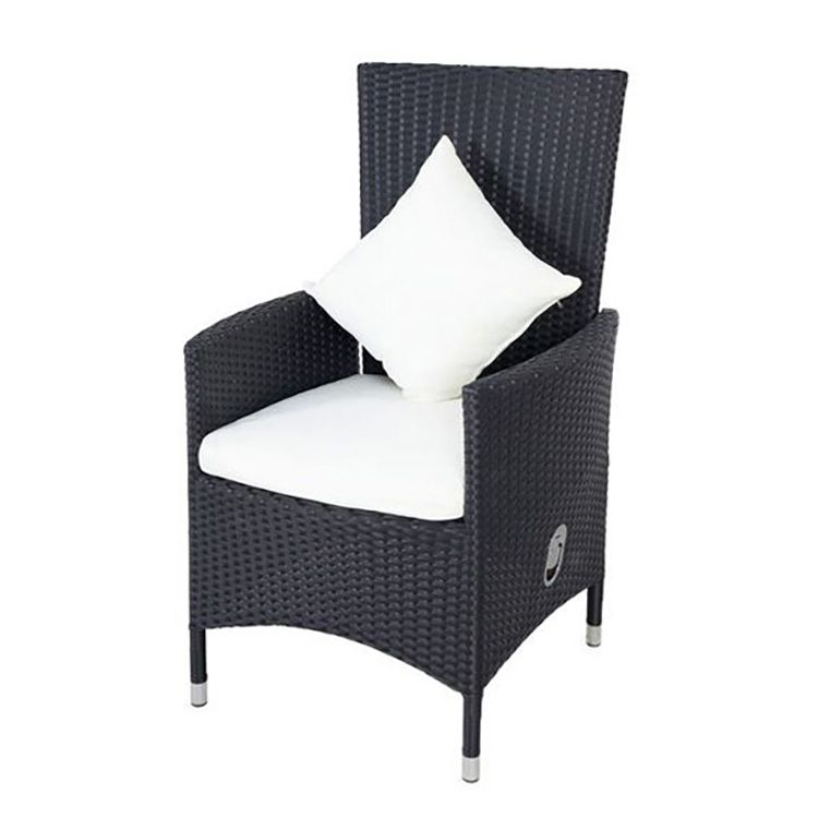sessel 2 teilig mit gasdruckfeder polyrattan schwarz. Black Bedroom Furniture Sets. Home Design Ideas