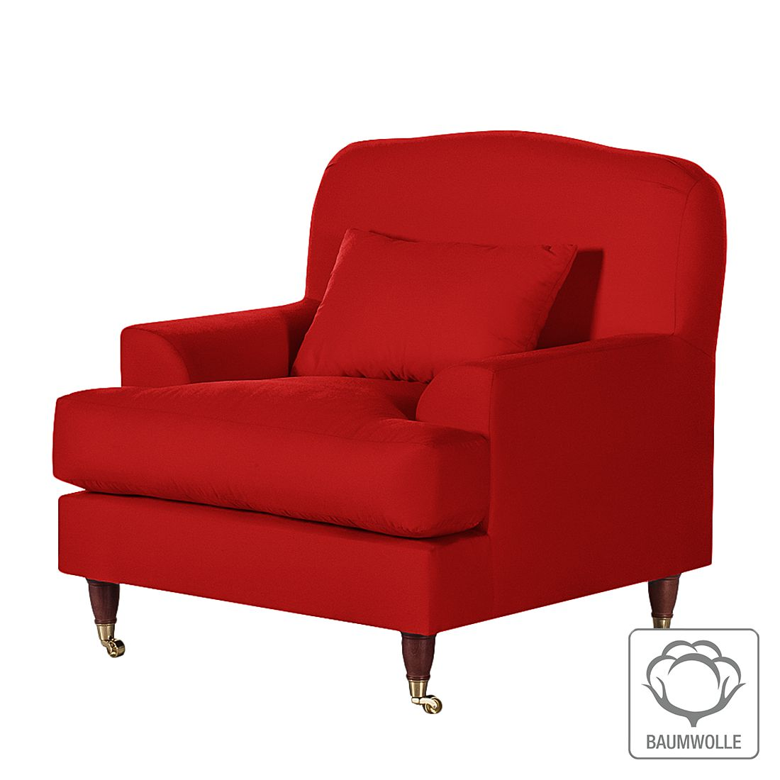Sessel Bent – Baumwollstoff Rot, Maison Belfort günstig bestellen