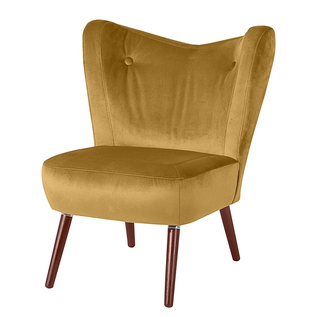 sessel celso samt maisgelb max winzer m mw 03 00446. Black Bedroom Furniture Sets. Home Design Ideas