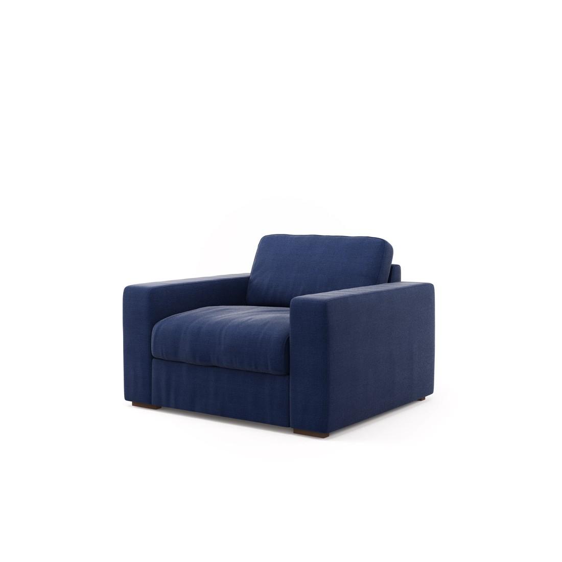 Sessel Clausen – Senja III D.Blue (Mitternachtsblau), Von Wilmowsky jetzt bestellen