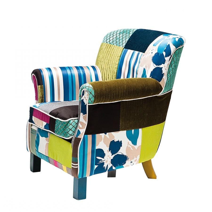 Sessel Elegant - Webstoff Patchwork, Kare Design