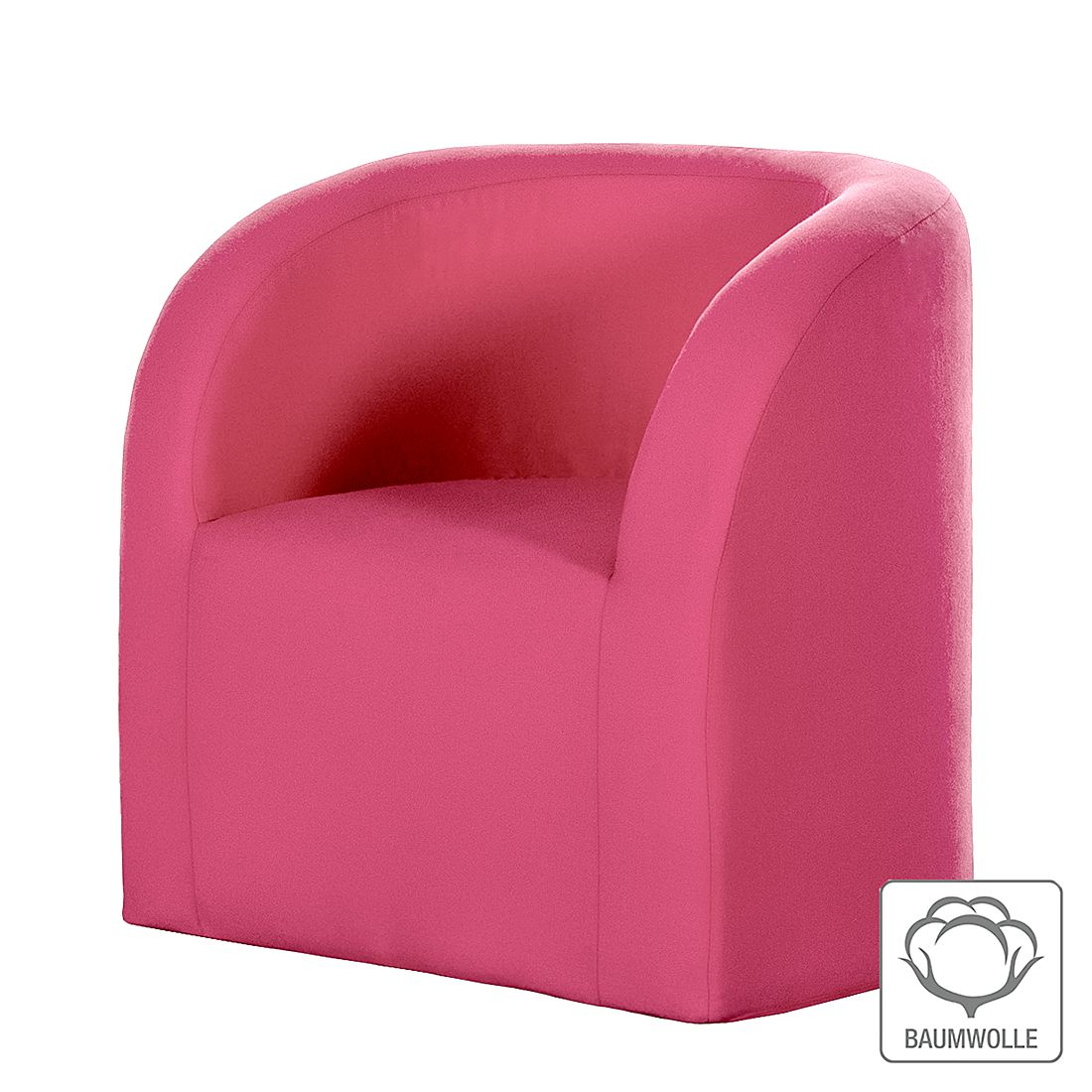 Sessel Emilia – Baumwollstoff Pink, Kids Club Collection günstig bestellen