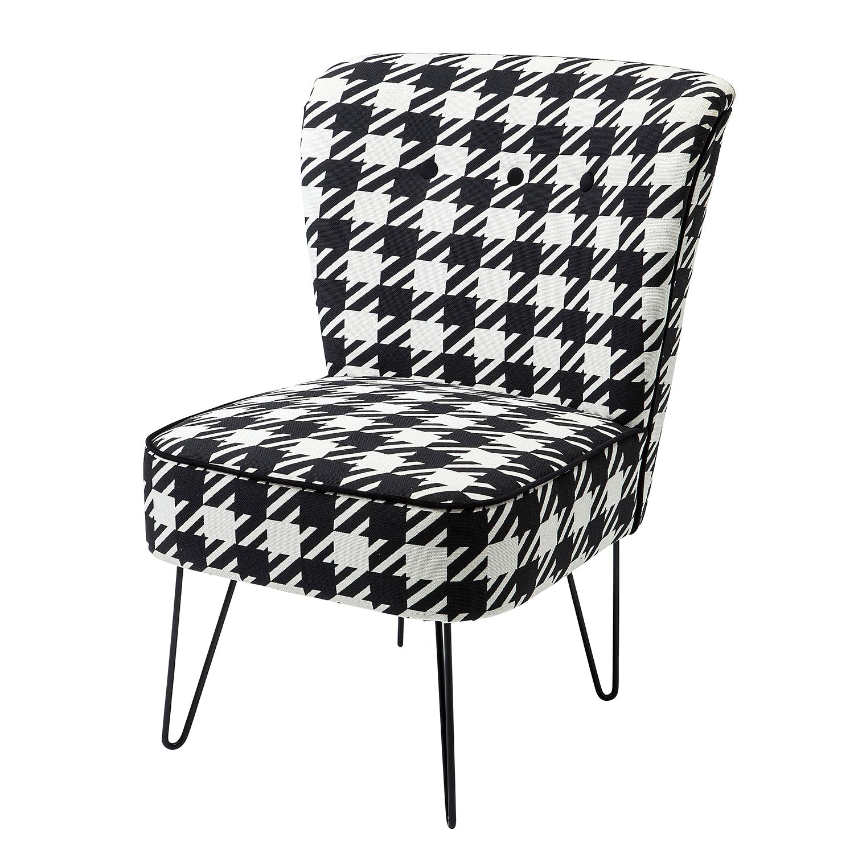 Sessel Florida - Flachgewebe - Schwarz / Weiß, Kare Design