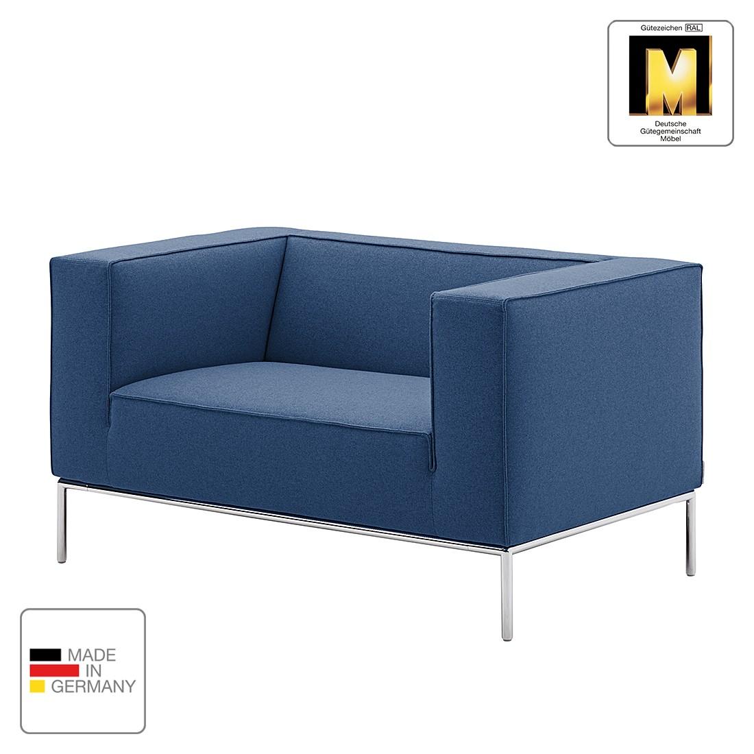 Sessel Greg - Webstoff - Blau - 1 Kissen, Machalke Polsterwerkstätten