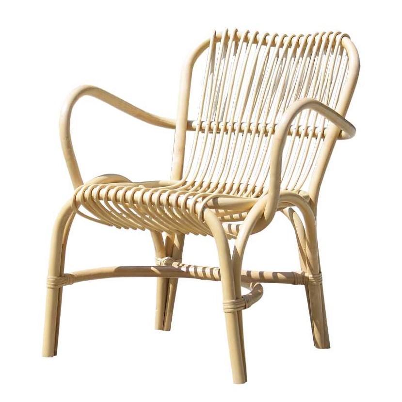 Sessel Heltanos – Rattan – Beige, Möbel Exclusive kaufen