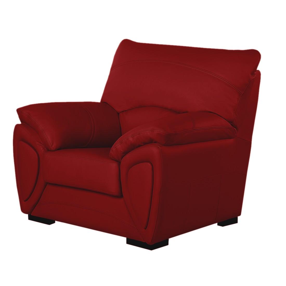 Sessel Luzzi - Echtleder Rot, Nuovoform