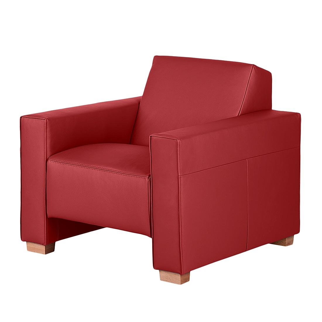 Sessel Midar - Echtleder Rot, roomscape