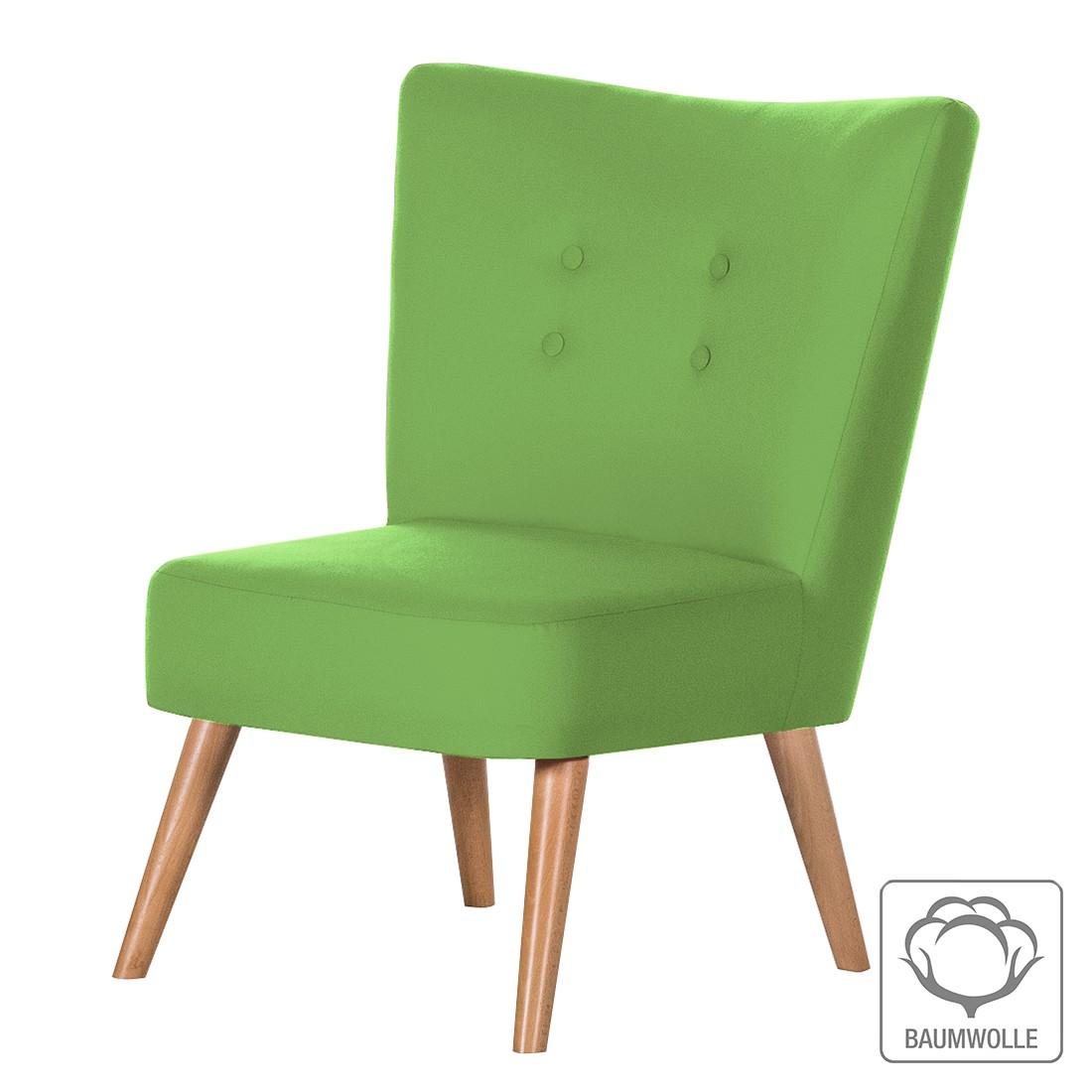 Sessel Mikkel – Baumwollstoff Grün, Morteens günstig kaufen