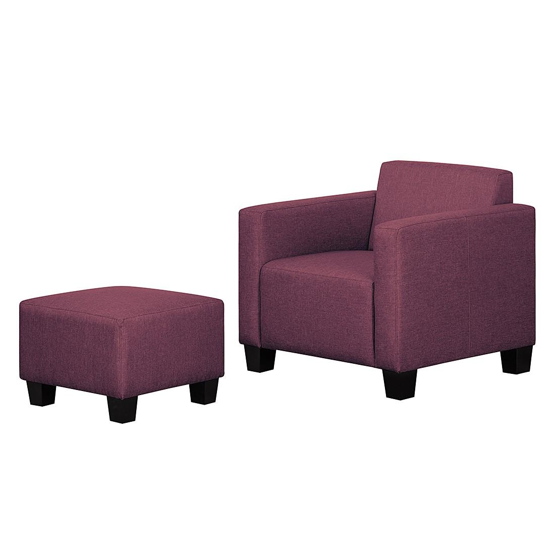Sessel Morez – Webstoff – Violett, roomscape jetzt kaufen
