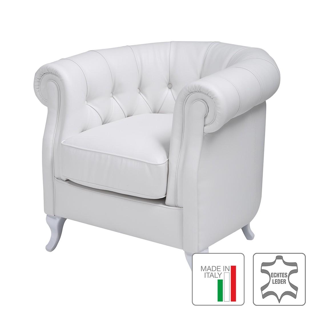 Sessel Nabucco – Echtleder Weiß, Trend Italiano günstig bestellen