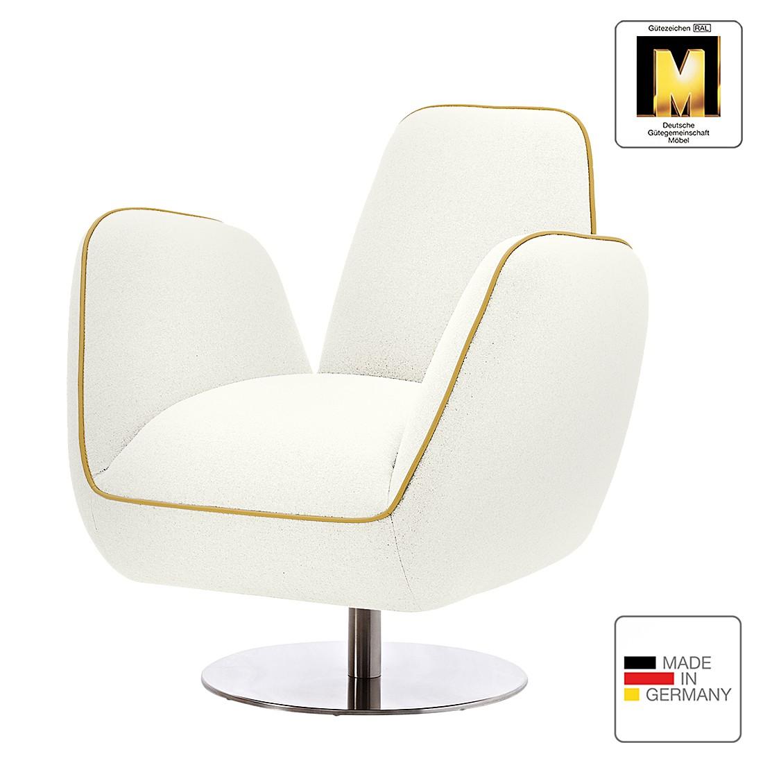 Sessel Pinto II – Webstoff – Weiß / Gelb, Machalke Polsterwerkstätten günstig