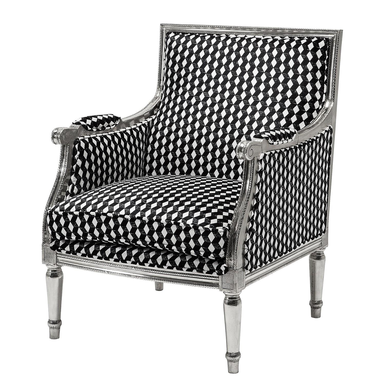 Sessel Regency Caro - Mischgewebe - Schwarz/Weiß, Kare Design