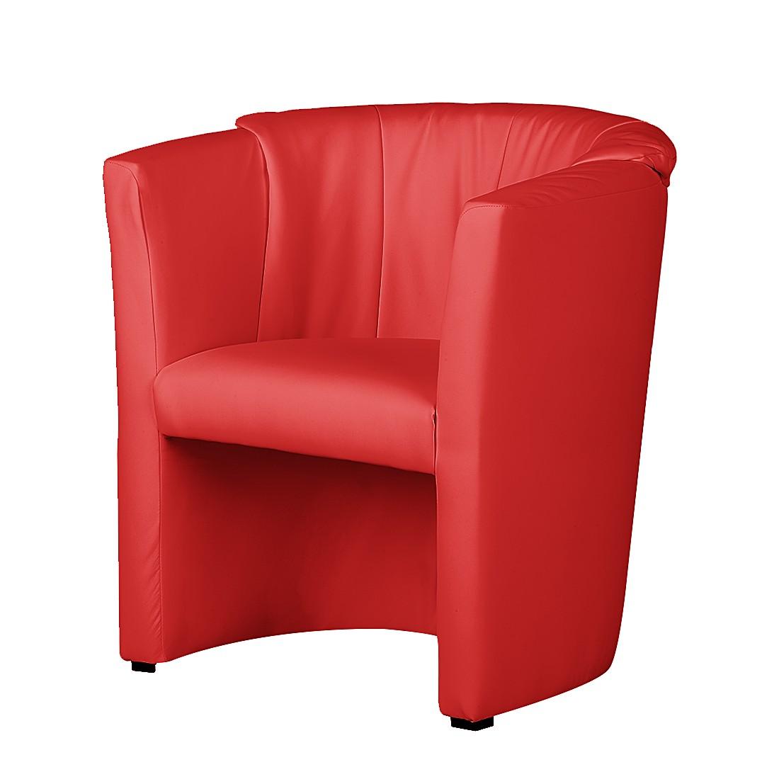 Sessel Rex – Kunstleder Rot, mooved jetzt bestellen
