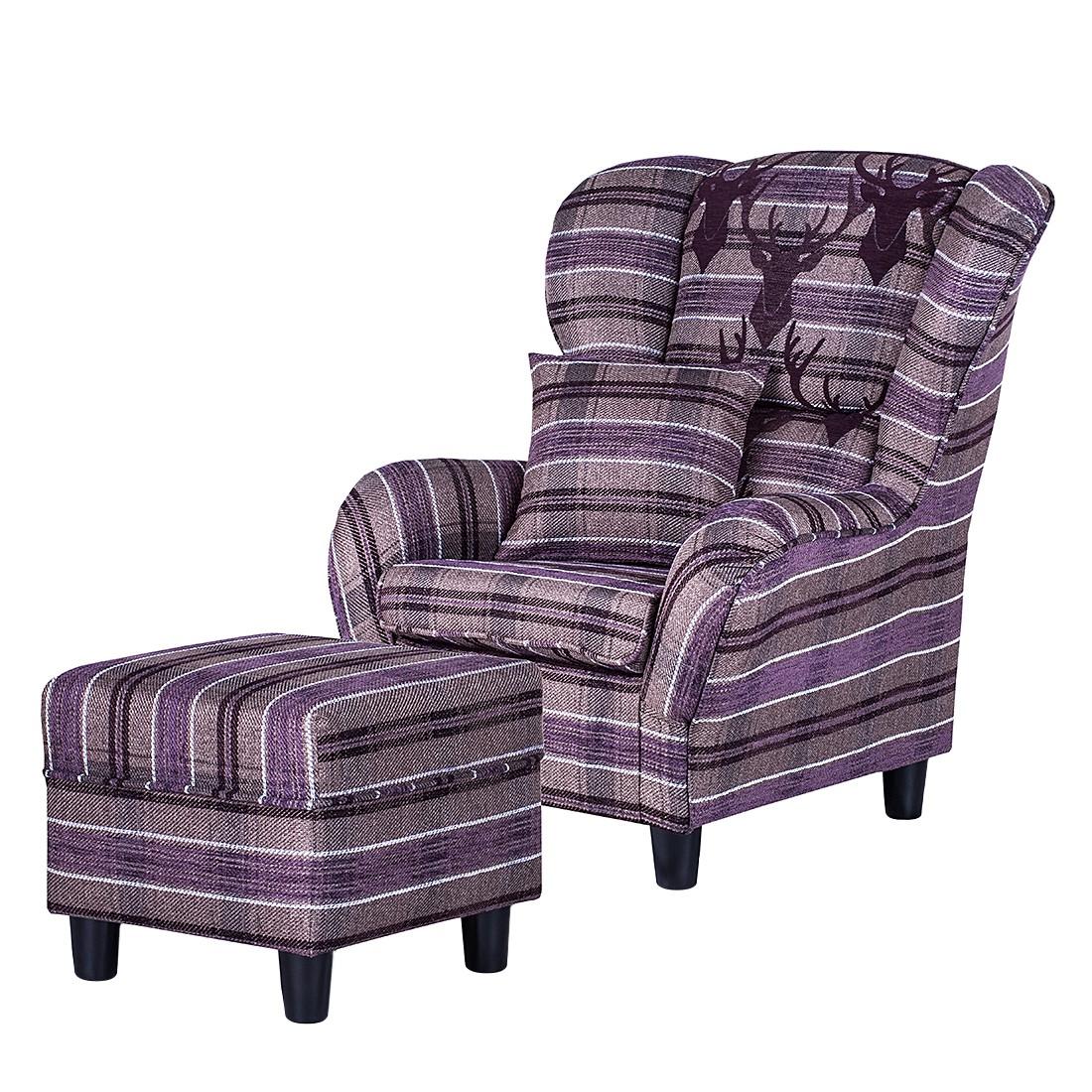 ohrensessel mit hocker sonstige maison belfort. Black Bedroom Furniture Sets. Home Design Ideas