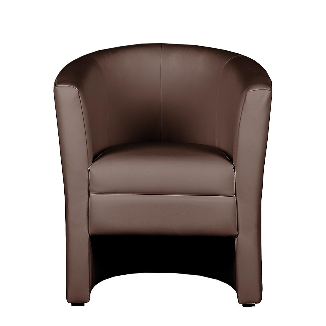 cocktailsessel braun kunstleder. Black Bedroom Furniture Sets. Home Design Ideas