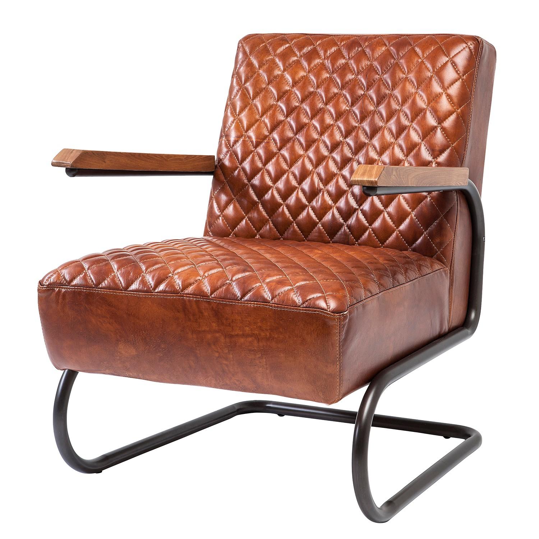 Sessel Stitch - Echtleder - Braun, Kare Design