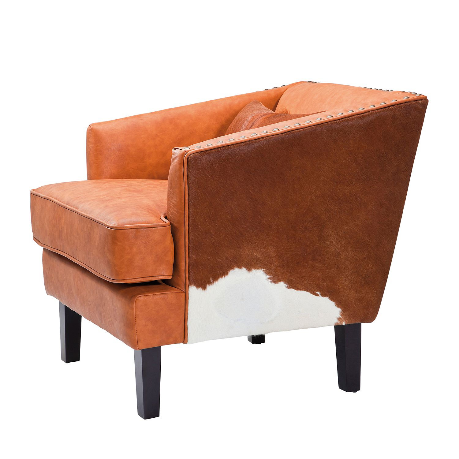 Sessel Texas Brown - Echtleder/Kunstleder - Braun, Kare Design