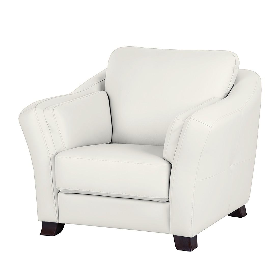 Sessel Toucy - Echtleder Weiß, Nuovoform