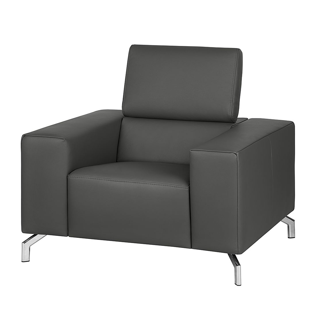 fauteuil varberg xxl cuir v ritable gris fonc loftscape le fait main. Black Bedroom Furniture Sets. Home Design Ideas