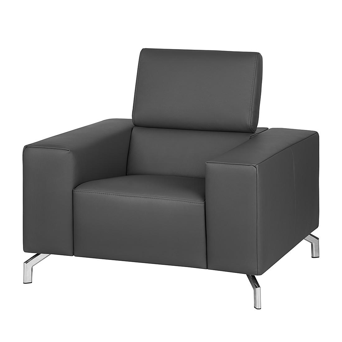 fauteuil varberg xxl cuir v ritable gris fonc loftscape le fait main. Black Bedroom Furniture Sets. Home Design Ideas