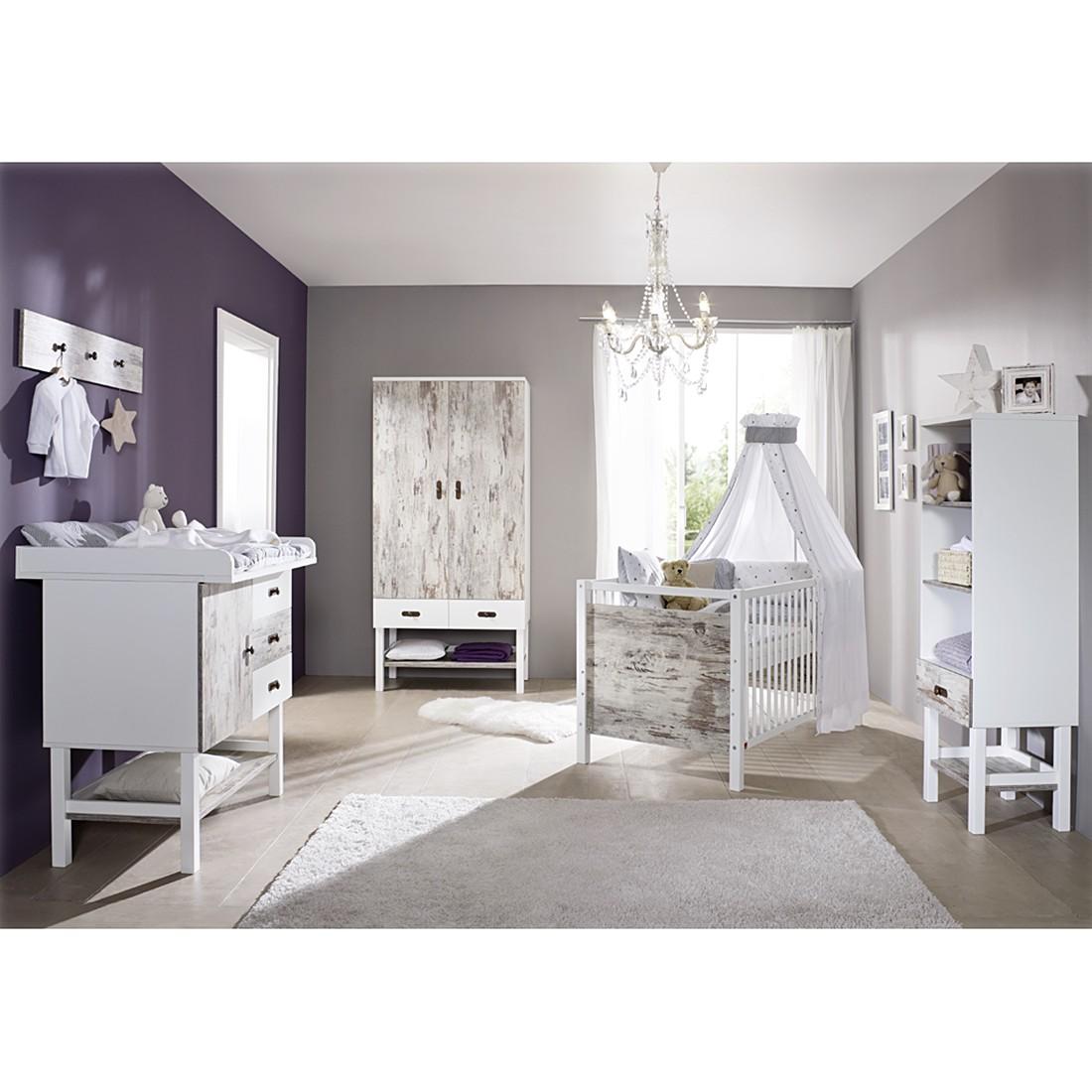 pc schrank peter kompaktes design mit t ren dekor in wei hochglanz alpenblick kaufen. Black Bedroom Furniture Sets. Home Design Ideas